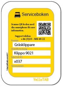 Service etikett x037